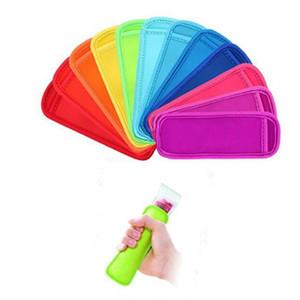Çocuklar Yaz Mutfak Aracı Renkli donma Popsicle Çanta Dondurucu Popsicle Sahipleri Yeniden kullanılabilir Neopren Yalıtım Buz Pop Kollu Çanta