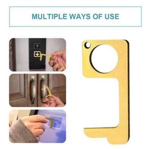 Sin contacto Ascensor Botón Llavero Abridor de puerta de anillo dominante de Keychain Handheld herramienta para la prensa Ascensor OOA7954