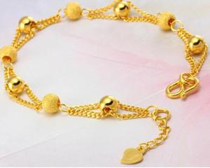 Gold plated bracelet; Vietnamese sand gold bracelet; Fashion beaded bracelet; Wedding jewelry