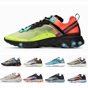 Nike Epic React 87 shoes Volt Royal Tint Total Orange React Element 87 Running Shoes For Women men Dark Grey Blue Chill Trainer 87s Sail Sports Sneaker