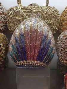 Dgrain Luxuxkristallglas Abendtaschen Designer Clutches Hochzeit Kupplungs-Frauen-Beutel 2019 Brauthochzeitsfest HandBags Bolsas Feminina