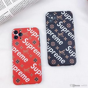 Suitable for iPhone X S 7 8 plus 11 12 pro MAX, a new brand of black and red popular comfortable shockproof mobile phone case