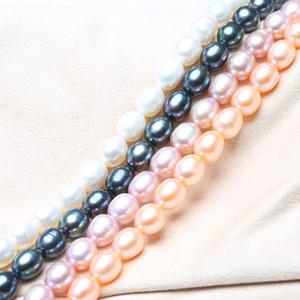 BaroqueOnly AAA натуральный рис-образный жемчуг цепи полуфабрикат оптом для колье ожерелье DIY изготовление 37см