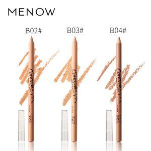 12PCS SET concealer pencil Menow concealer pen P137 wooden handle soft cream brighten beige natural color waterproof face contour pen