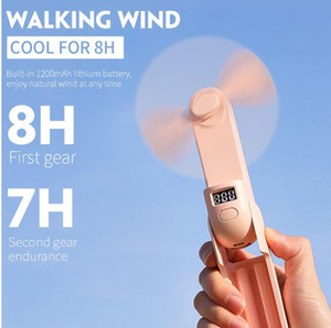 Mini Portable fan USB Rechargable Fan with two wind Speeds 3 Colors foldable handheld fan with 2000mAh Emergency Power Bank for phone