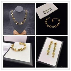 Fashion custom letter flower jewelry women earrings women bracelet
