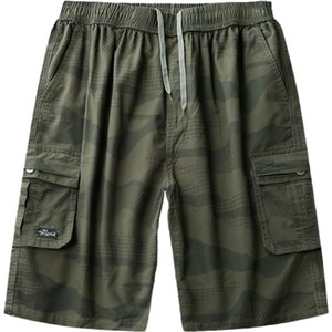 SWICCI 2020 Summer Men's Baggy Casual Beach Pants Cargo Shorts Male Solid Color Breathable Male Tactical Shorts Short Pants 5XL