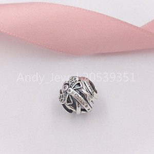 Аутентичные 925 стерлингового серебра шариков мечтательный Dragonfly шарма очаровывает Подходит для европейского Pandora Стиль ювелирных изделий Браслеты Ожерелье 797025CZ