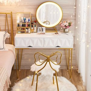 Light luxury ins style dressers simple modern bedroom small apartment net red Nordic dressing table with lamp