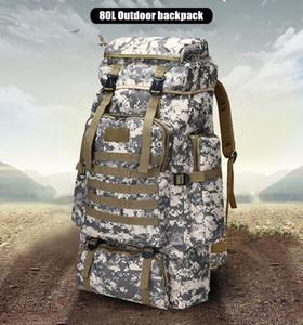 80L Su geçirmez Tırmanma Yürüyüş Askeri Taktik Sırt Çantası Çanta Kamp Dağcılık Açık Spor Molle 3P Çanta K550G