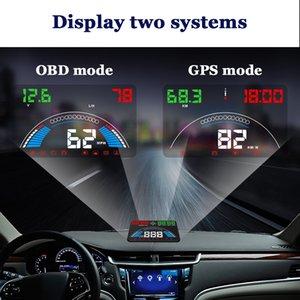 Head Up Display OBD2 coches HUD GPS parabrisas proyector de medidor digital de 5,8 pulgadas de pantalla HUD del coche Velocímetro de diagnóstico