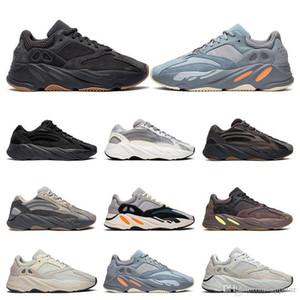 2020 Kanye West zapatos corrientes de los hombres de mujeres 700 Utilidad Negro Vanta Tefra inercia Sal de inicio Wave Runner las zapatillas de deporte entrenadores talla 36-46