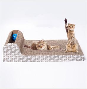 Pet toy cat ловить игрушка доска гофрированная бумага большой pet диван cat поставки бесплатный подарок catnip 190101-17