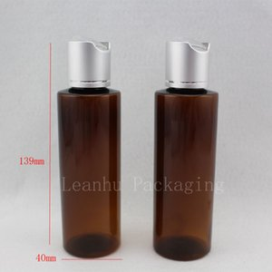 high quality 120ml brown bottle with silver aluminum disc top cap,dropper container, bottle,PET sample bottles