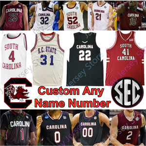 Personalizzato South Carolina Gamecocks Jersey di pallacanestro NCAA College Alex English A.J. Lawson Couisnard KotsarJair Bolden Minaya Brian Winters