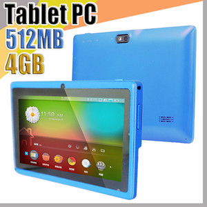 "838 Allwinner A33 Quad Core Q88 Tablet PC Dual Camera 7"" 7 inch capacitive screen Android 4.4 512MB 4GB Wifi Google play store flash E-7PB"