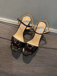 único sapatos de couro da moda sandálias de salto único alta sandálias de moda verão das mulheres de alta qualidade das mulheres de luxo New europeus