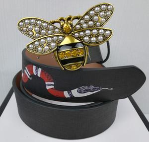 2019 men belt top quality Men's belts luxury designer High quality Genuine leather man belt With box For Snake strap