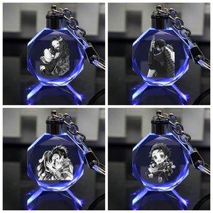 IVYYE Kimetsu senza catene Yaiba Anime chiave ha condotto il giocattolo di cristallo di figura portachiavi Keychain Light Portachiavi Unisex regali personalizzati NUOVI