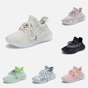 Designer Shoes Nuevos niños Ropa V2 Kanye West zapatos corrientes de tienda con la caja de envío gratuito Us7-13 # 363
