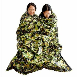First Aid Emergency Blanket Camouflage Survival Emergency Sleeping Bag Keep Warm Waterproof Mylar Hot Outdoor Camping Sleeping Bags LXL962