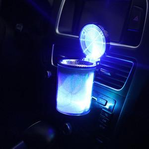 cendrier de voiture cendrier de voiture créatif cendrier étanche automobile coloré lumière lampe LED extincteur fumée légère chiquenaude VTZ002