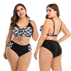 Женщины бикини Установить Повседневный Черный Tankini костюм Женский Повседневный Большой размер Swimsuit Mujer Biquini Плюс Размер Купальники XXXXL Купальник