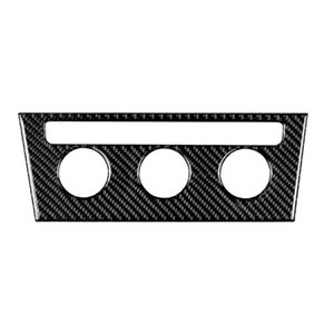 Carbon Fiber Console AC Switch Cover Trim Car Sticker 260*96mm Car Styling for Golf 7 2013-2017 Automotive Interior Stickers