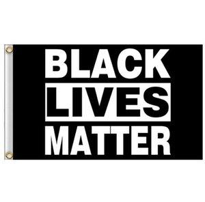 90x150cm NEGRO VIVE LA MATERIA Bandera Banderas Negro pancarta de protesta estadounidense Banderas del desfile de fiesta puede costumbre GGA3432-7
