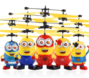 RC Helicopter Drone Kids Toys Ball Aircraft LED Flashing Light Up Toy Induction Sensor Eléctrico para Niños Aviones eléctricos