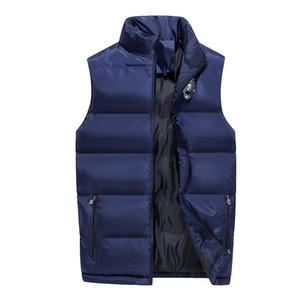 Fashion Men Winter Cotton Vest Korean Style Man Casual Sleeveless Jacket Coats 4 Colors Big Size M-6XL