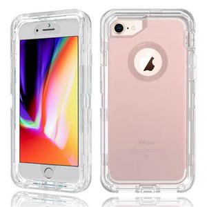 Очистить чехол для Iphone XS Max XR 8 Plus Samsung Примечание 9 S10 Прозрачный Heavy Duty Defender Case Ударопоглощение Кристалл с ОПП мешок