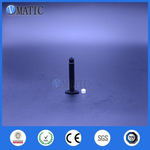 Trasporto libero 2500 insiemi / lotto 3 cc 3ml nera UV Dispensing pneumatico serbatoio siringa con pistone / Stopper / Fine coperchio del distributore di siringa