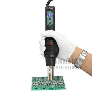 DES PortPortable Temperatura constante Pistola de calor Pantalla digital Ajustable soplador de aire caliente Estación de desoldar 560 W 110 V / 220 V