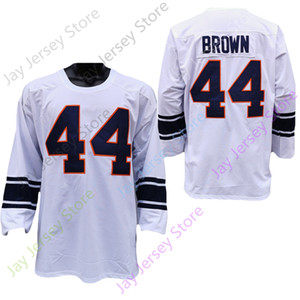 2.020 Tamaño Nuevos NCAA Syracuse Orange jerseys 44 Jim Brown balompié Jersey de adulto jóvenes Todo cosido
