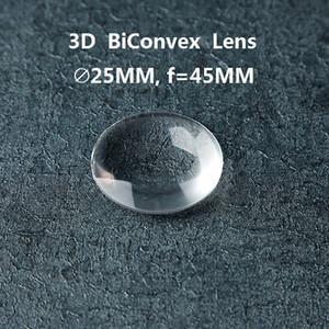 100 teile / los 25mm Durchmesser 45mm fokale Doppel-Konvexe Linse für Google Karton DIY 3D VR Gläser BiKonvexe Linse großhandel