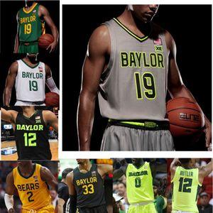 NCAA Baylor Bears Escuela de Baloncesto jerseys para hombre Jake Lindsey Jersey Mario Kegler rey Darío McClure 1 Allen verde para mujer cosido personalizada