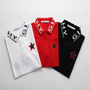 2020 Summber Роскошные дизайнерские рубашки поло мода Giv Star Pattern вышивка Поло рубашка высокое качество повседневное поло футболки