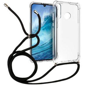 1,5 millimetri addensare trasparente collana antiurto crossbody TPU laccio per Huawei P30 lite / Nova telefono cellulare 4e corda 160 millimetri di copertura