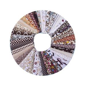 50pcs Castanho, Estilo 10cmx10cm Impresso Cotton Patchwork Fabric costura Quilting Tecidos para Needlework Handmade material