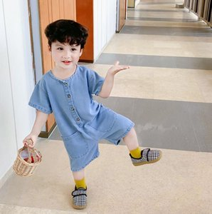 2020 New Style Boys Denim Overalls Summer Fashion Kids Shorts 1-6t QH406