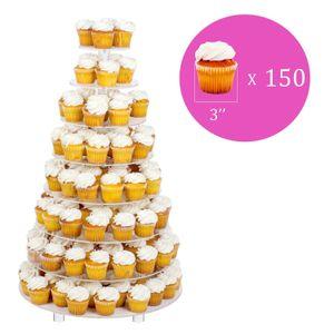 8 티어 웨딩 파티 아크릴 라운드 케이크 (먹고 타워 / 디저트 / 과자 빅 이벤트에 대한 플래터 / 식품 디스플레이 스탠드 봉사 스탠드 / 8RF 스탠드