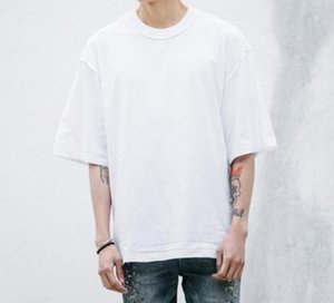 Man streetwear Kanye WEST style clothing men T shirts oversized tee homme hip hop half sleeve T shirtuzCa#