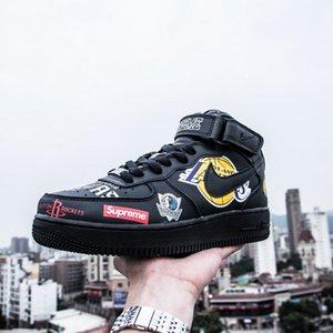 High Top Suprèmè NBÀ Nikè Air Forcè 1 Mid Graffiti Designer Luxury Trainers Slipper Triple Hommes Men Shoes Basketball Sneakers 36-45