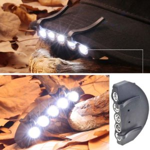 5 LED Super Clip faro de luz para cabeza Linternas brillante cabeza del faro cabeza de la linterna casquillo de la luz sobre la pesca de la lámpara principal ligera CCA11472 100pcs