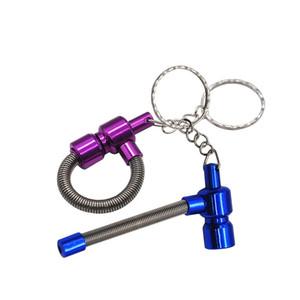 Clés unisexes Bague Pipe Métal Pipes Printemps Petit déjeuner Handpipe Pendent Wear Portable Resistance 3 1YH UU