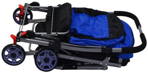 Portable Folding Pet Cart Medium-sized Cat Dog Teddy Cage Three-wheeled Travel Supplies Go Out Light Stroller