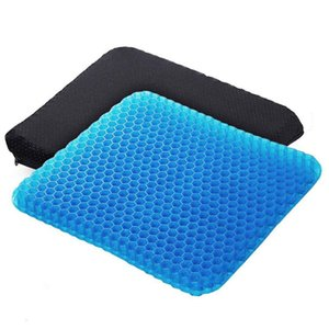 Angushy Egg Gel Seat Cushion, Breathable Gel Cushion Chair Pads with Non-Slip Cover for Home Office Car Wheelchair, Honeycomb De