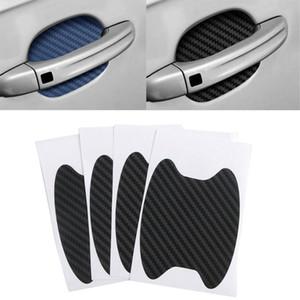 4pcs / Seti Araç Kapı Sticker Karbon Fiber çizikler Dirençli Kapak Otomatik Sap Koruma Filmi Dış Tasarım Aksesuar