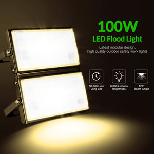 100W ultra-mince Module léger 110V Blanc Chaud Entrepôt Projecteurs, hôtel, Piscine, Atelier Allée Led Lamp